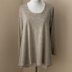 Umgee Layered Scoop Neck Tunic, Size M